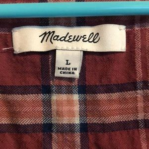 Madewell Tops - Madewell Flannel Blouse